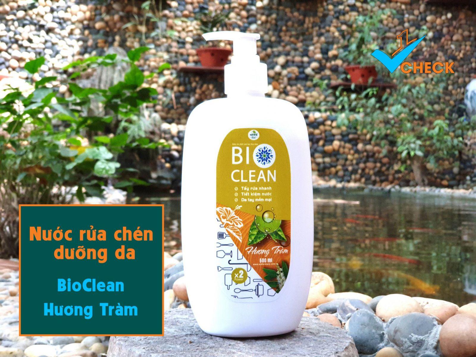 Nước rửa chén sinh học thảo dược BioClean X2, hương tràm, chai 500ml