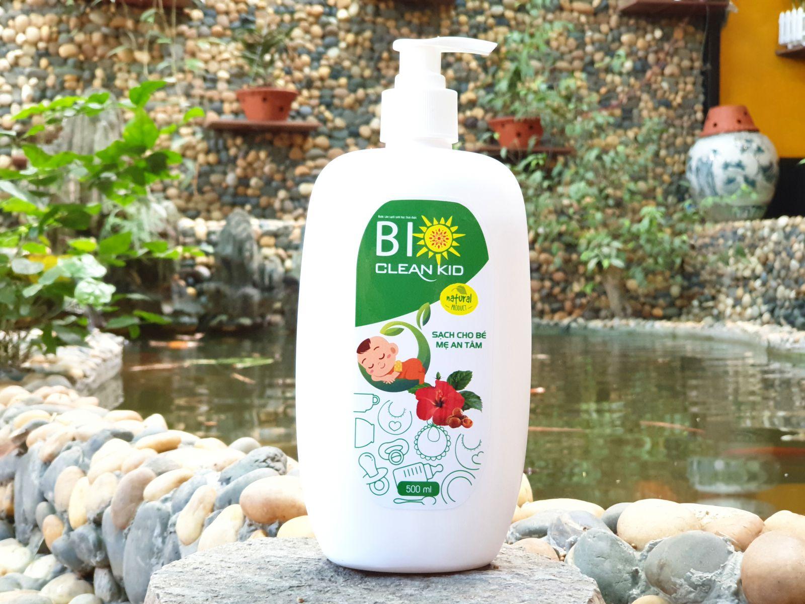 Nước rửa sinh học thảo dược BioClean Kid, chai 500ml