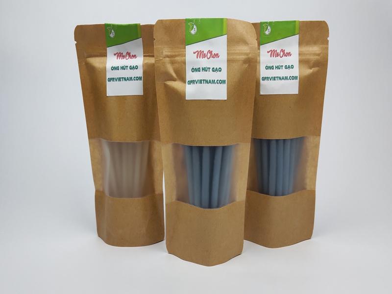 Ống hút gạo phi 6mm, dài 15cm, gói 50 ống (thùng 50 gói)